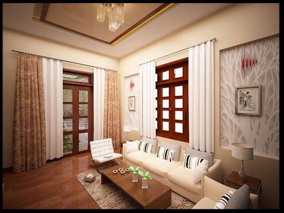 Phòng khách với thiết kế sang trọng và lịch lãm.