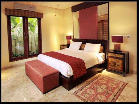 Phòng ngủ masrer với gam màu sang trọng.