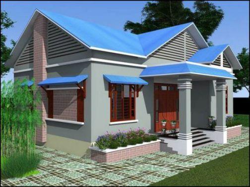 mẫu nhà nông thôn 1 tầng hiện đại thiết kế 4