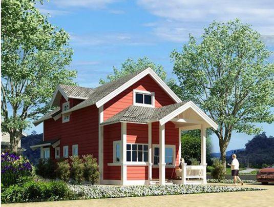mẫu nhà nông thôn 1 tầng hiện đại thiết kế 5