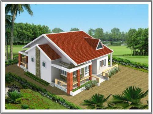 mẫu nhà nông thôn 1 tầng hiện đại thiết kế 7