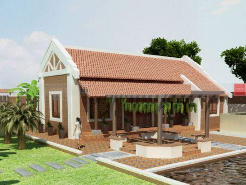 mẫu nhà nông thôn 1 tầng hiện đại thiết kế 8