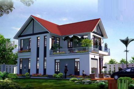 mẫu nhà 2 tầng ở nôngt thôn được ưu chuộng thiết kế 2
