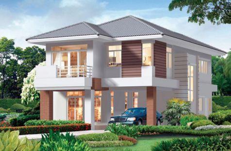 mẫu nhà 2 tầng ở nôngt thôn được ưu chuộng thiết kế 3