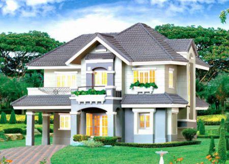 mẫu nhà 2 tầng ở nôngt thôn được ưu chuộng thiết kế 5