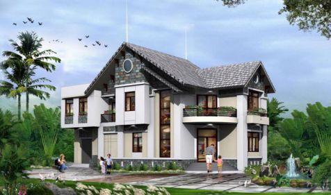 mẫu nhà 2 tầng ở nôngt thôn được ưu chuộng thiết kế 6