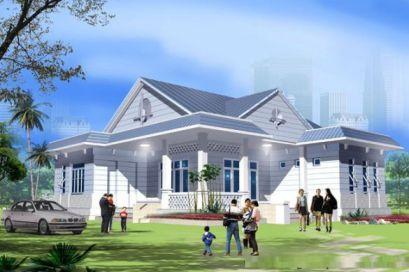 mẫu nhà nông thôn hiện đại nhất Việt Nam thiết kế 1
