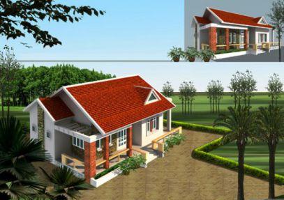 mẫu nhà nông thôn hiện đại nhất Việt Nam thiết kế 6