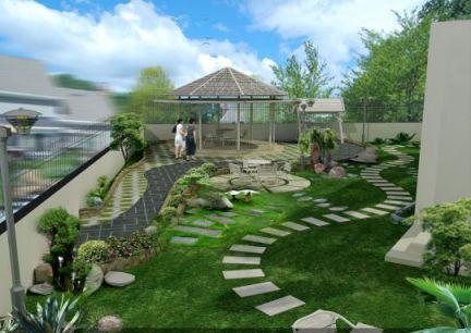 mẫu nhà phố có sân vườn hiện đại thiết kế 3