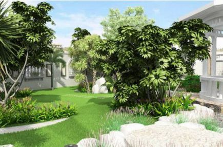 mẫu nhà phố có sân vườn hiện đại thiết kế 5