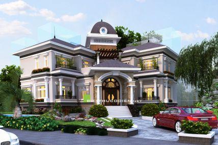 biệt thự đẹp hiện đại cổ điển mới nhất mẫu 7