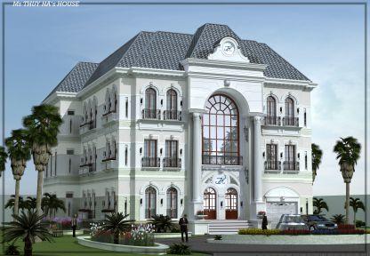 Thiết kế mẫu biệt thự 2 tầng hiện đại