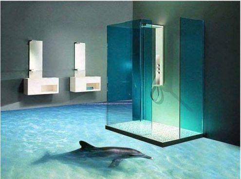 Mẫu phòng tắm đẹp sàn 3D hiện đại - Thiết kế 10
