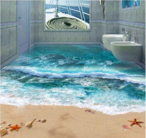 Mẫu phòng tắm đẹp sàn 3D hiện đại - Thiết kế 4