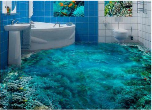 Mẫu phòng tắm đẹp sàn 3D hiện đại - Thiết kế 6