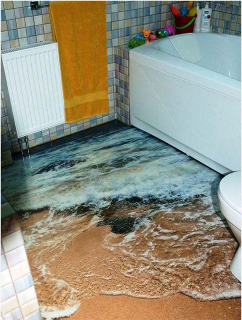 Mẫu phòng tắm đẹp sàn 3D hiện đại - Thiết kế 7