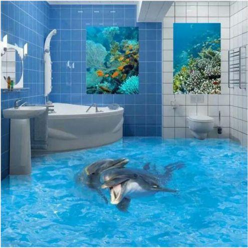 Mẫu phòng tắm đẹp sàn 3D hiện đại - Thiết kế 8