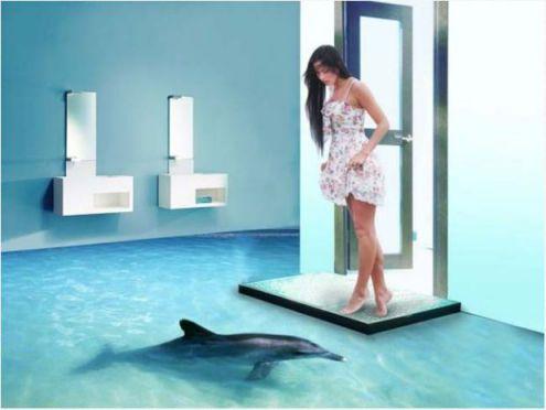 Mẫu phòng tắm đẹp sàn 3D hiện đại - Thiết kế 9