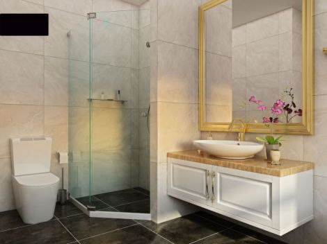 Mẫu phòng tắm dành cho chung cư đẹp M5