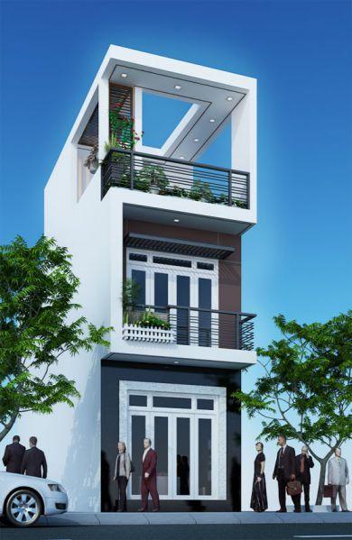 Mẫu nhà ống 3 tầng hiện đại nhất thiết kế 5