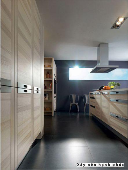 mẫu nội thất nhà bếp với tù gỗ inox hiện đại thiết kế 2