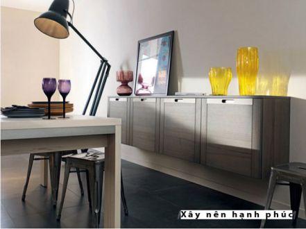 mẫu nội thất nhà bếp với tù gỗ inox hiện đại thiết kế 3