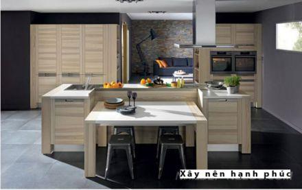 mẫu nội thất nhà bếp với tù gỗ inox hiện đại thiết kế 4