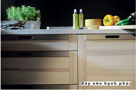 mẫu nội thất nhà bếp với tù gỗ inox hiện đại thiết kế 6