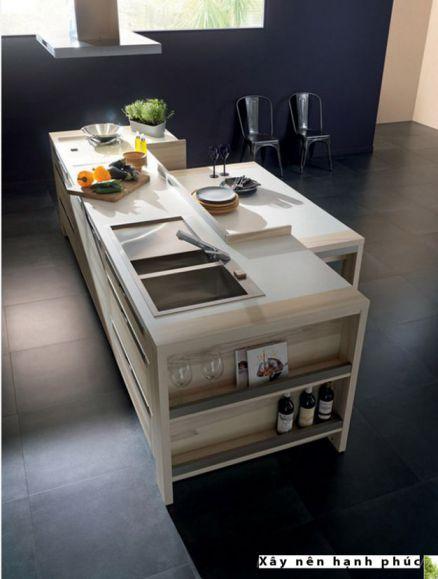 mẫu nội thất nhà bếp với tù gỗ inox hiện đại thiết kế 7