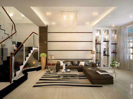 Mẫu phòng khách nhà phố hiện đại được ưu chuộng nhất thiết kế 6