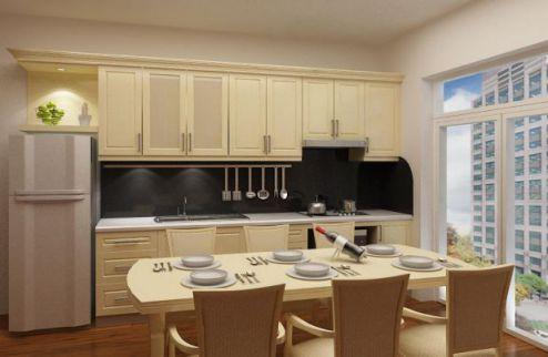 Mẫu nhà bếp dành cho chung cư hiện đại H1