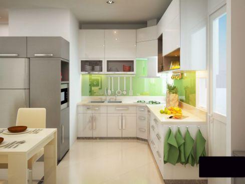 Mẫu nhà bếp dành cho chung cư hiện đại H2