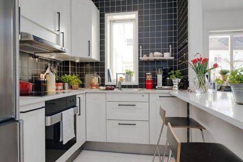 Mẫu nhà bếp dành cho chung cư hiện đại H4