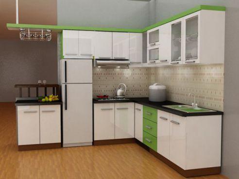 Mẫu nhà bếp dành cho chung cư hiện đại H6