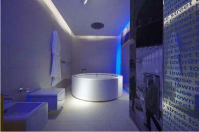 Mẫu phòng tắm có đèn LED H9