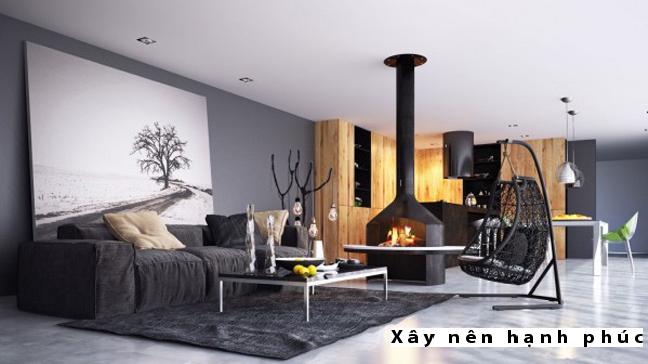 Mẫu phòng khách hiện đại được ưu chuộng ☛ Thiết kế 9