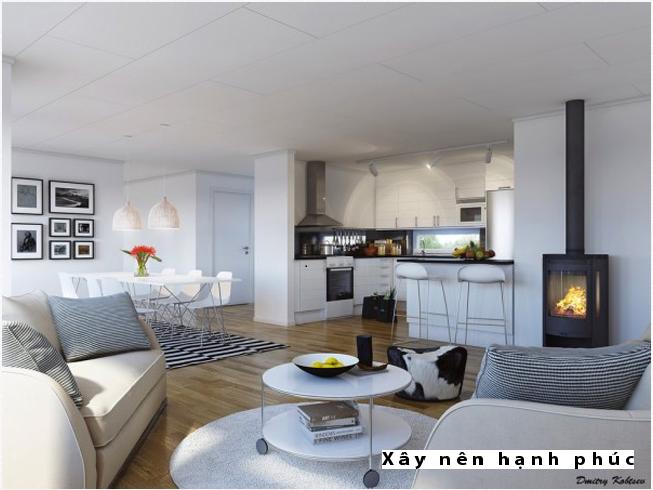 Mẫu phòng khách hiện đại được ưu chuộng ☛ Thiết kế 10