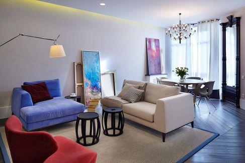 Mẫu nội thất phòng khách hiện đại ☛ Thiết kế 1