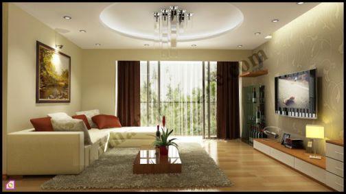 mẫu phòng khách chung cư hiện đại H2