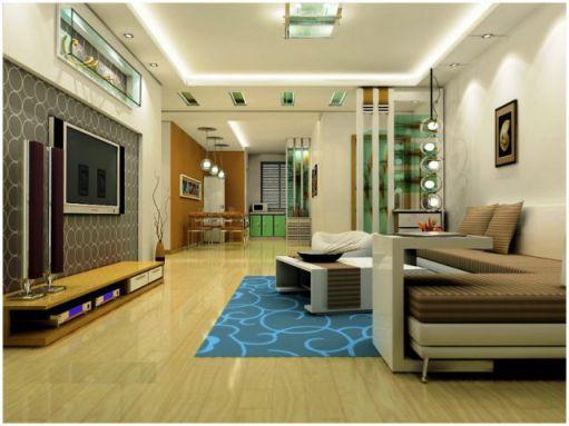 mẫu phòng khách chung cư hiện đại H3
