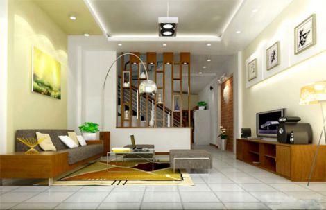 mẫu phòng khách chung cư hiện đại H4