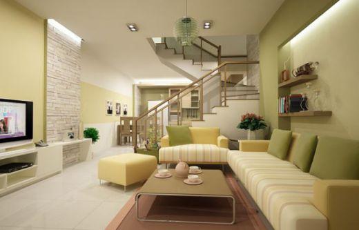 mẫu phòng khách chung cư hiện đại H6