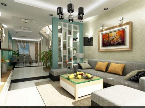 mẫu phòng khách chung cư hiện đại H7