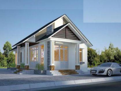 Thiết kế nhà cấp 4 giá 200 triệu đẹp H5