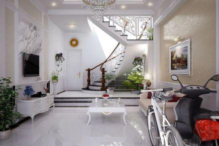 Mẫu phòng khách có cầu thang hiện đại, H2