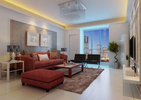 Mẫu phòng khách nhà phố đpẹ hiện đại- THiết kế 1
