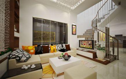Mẫu phòng khách nhà phố đpẹ hiện đại- THiết kế 4