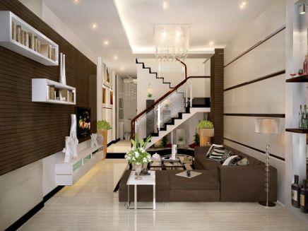 Mẫu phòng khách nhà phố đpẹ hiện đại- THiết kế 6