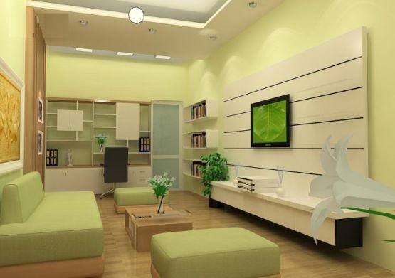Mẫu phòng khách nhà phố thiết kế 5
