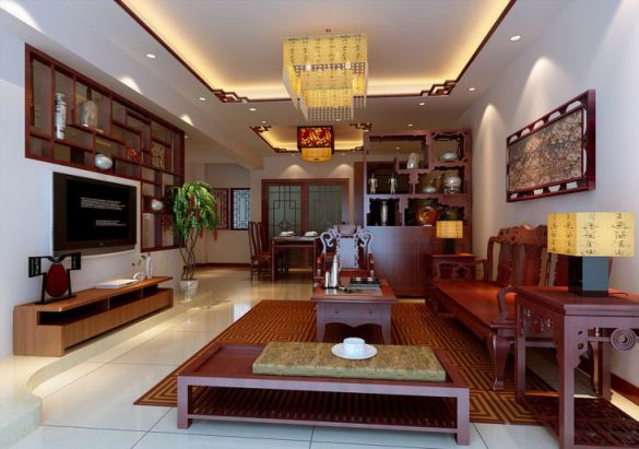 Phòng khách thiết kế bằng gỗ hiện đại Phối cảnh 4